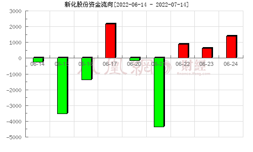 新化股份(603867)资金流向分析图