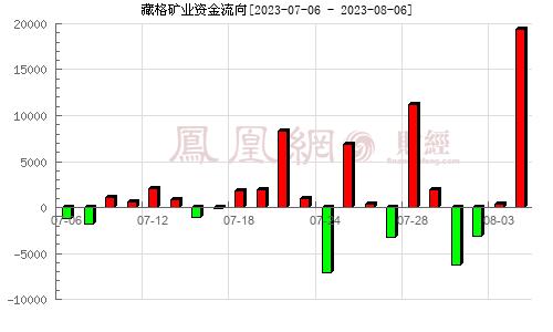 藏格控股(000408)资金流向分析图