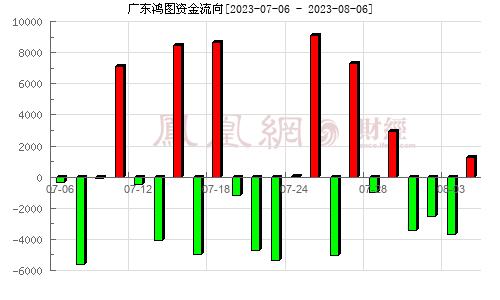 广东鸿图(002101)资金流向分析图