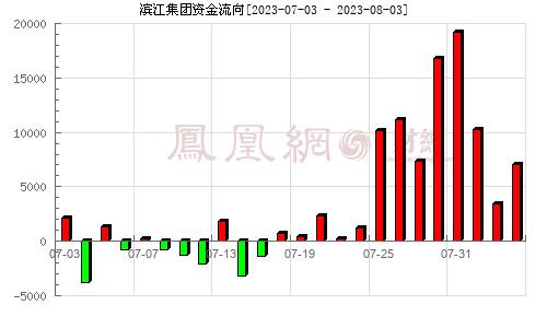 滨江集团(002244)资金流向分析图