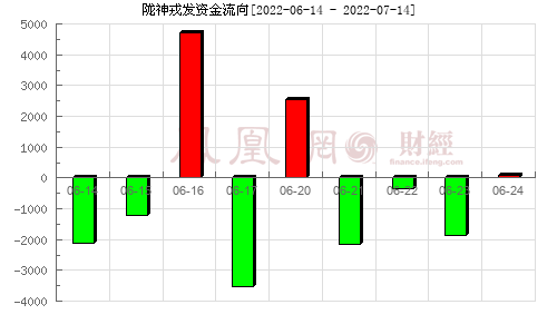 陇神戎发(300534)资金流向分析图