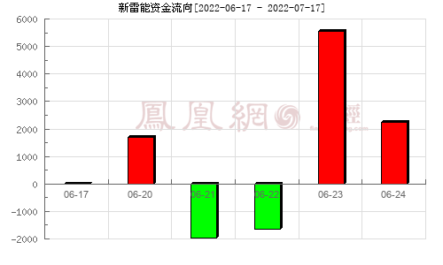 新雷能(300593)资金流向分析图